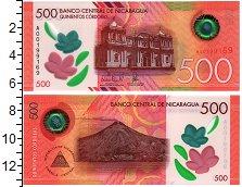 Изображение Банкноты Северная Америка Никарагуа 500 кордоба 2017 Пластик UNC