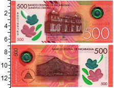 Изображение Банкноты Никарагуа 500 кордоба 2017 Пластик UNC