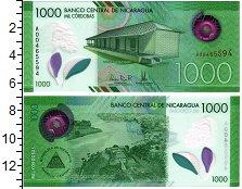 Изображение Банкноты Северная Америка Никарагуа 1000 кордоба 2017 Пластик UNC