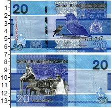 Изображение Банкноты Гамбия 20 даласи 2019  UNC