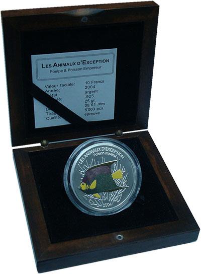 Изображение Подарочные монеты Африка Конго 10 франков 2004 Серебро Proof