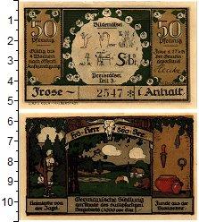 Изображение Банкноты Германия : Нотгельды 50 пфеннигов 1921  UNC Фрозе