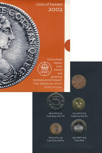 Изображение Подарочные монеты Европа Швеция Набор 2002 года 2002  Proof