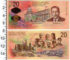 Изображение Банкноты Азия Сингапур 20 долларов 2019  UNC