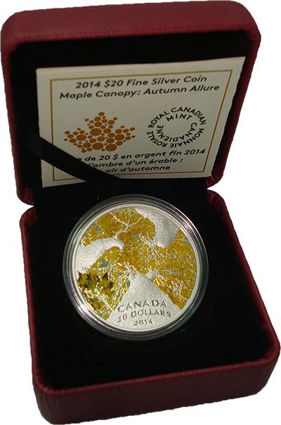 Изображение Подарочные монеты Северная Америка Канада 20 долларов 2014 Серебро Proof