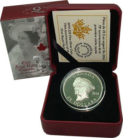 Изображение Подарочные монеты Канада 25 долларов 2014 Серебро Proof