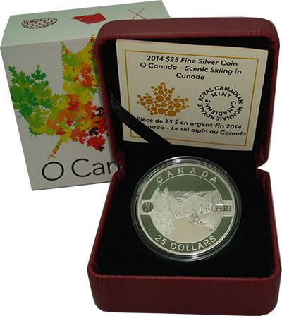 Изображение Подарочные монеты Северная Америка Канада 25 долларов 2014 Серебро Proof