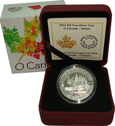Изображение Подарочные монеты Северная Америка Канада 10 долларов 2014 Серебро Proof