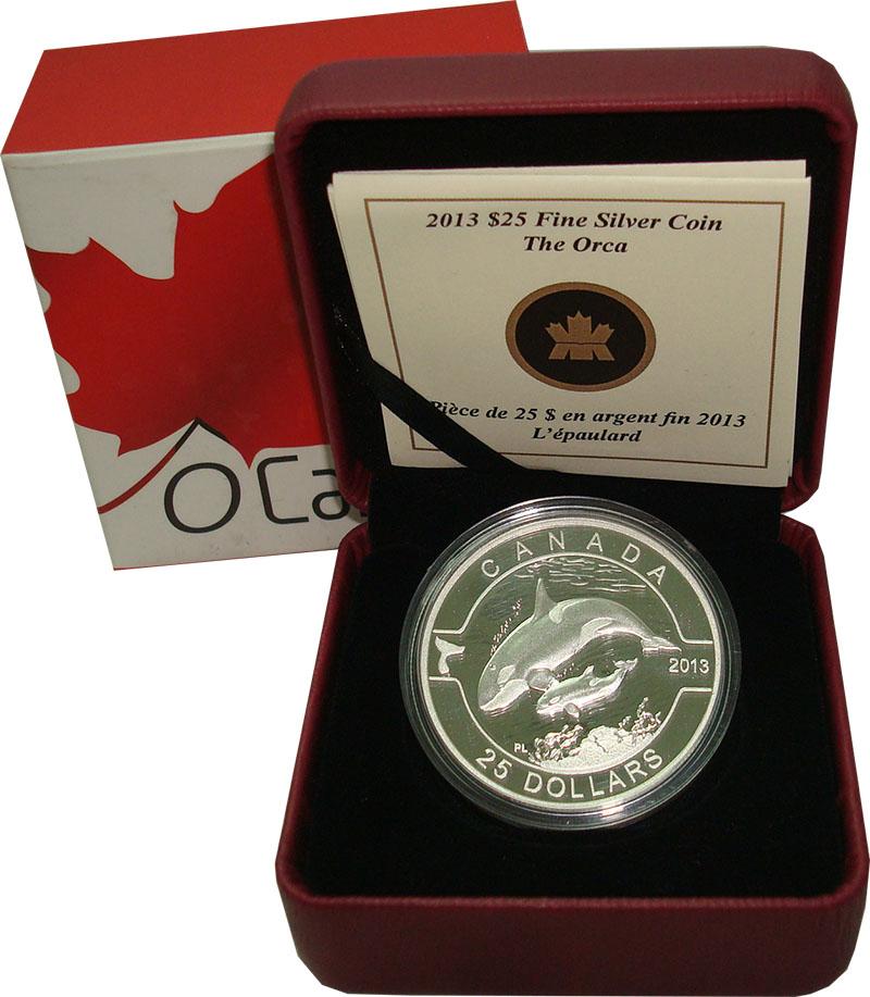 Изображение Подарочные монеты Северная Америка Канада 25 долларов 2013 Серебро Proof