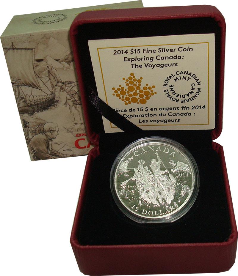 Изображение Подарочные монеты Северная Америка Канада 15 долларов 2014 Серебро Proof