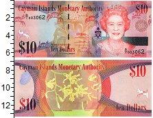 Изображение Банкноты Каймановы острова 10 долларов 2010  UNC