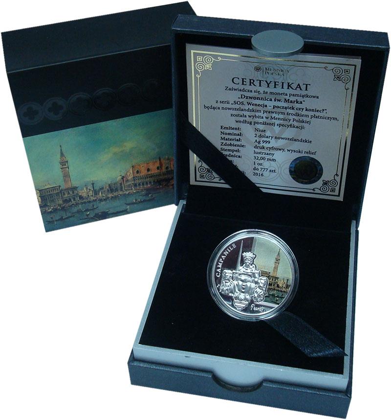 Изображение Подарочные монеты Новая Зеландия Ниуэ 2 доллара 2016 Серебро Proof