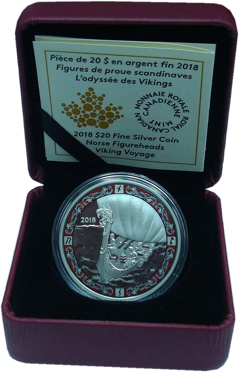 Изображение Подарочные монеты Канада 20 долларов 2018 Серебро Proof
