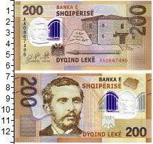 Изображение Банкноты Албания 200 лек 2017 Пластик UNC