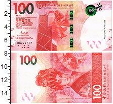 Изображение Банкноты Гонконг 100 долларов 2018  UNC