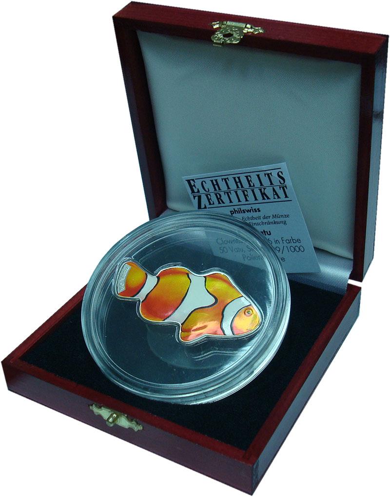 Изображение Подарочные монеты Австралия и Океания Вануату 50 вату 2006 Серебро Proof