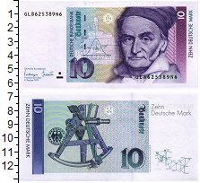 Изображение Банкноты ФРГ 10 марок 1993  UNC
