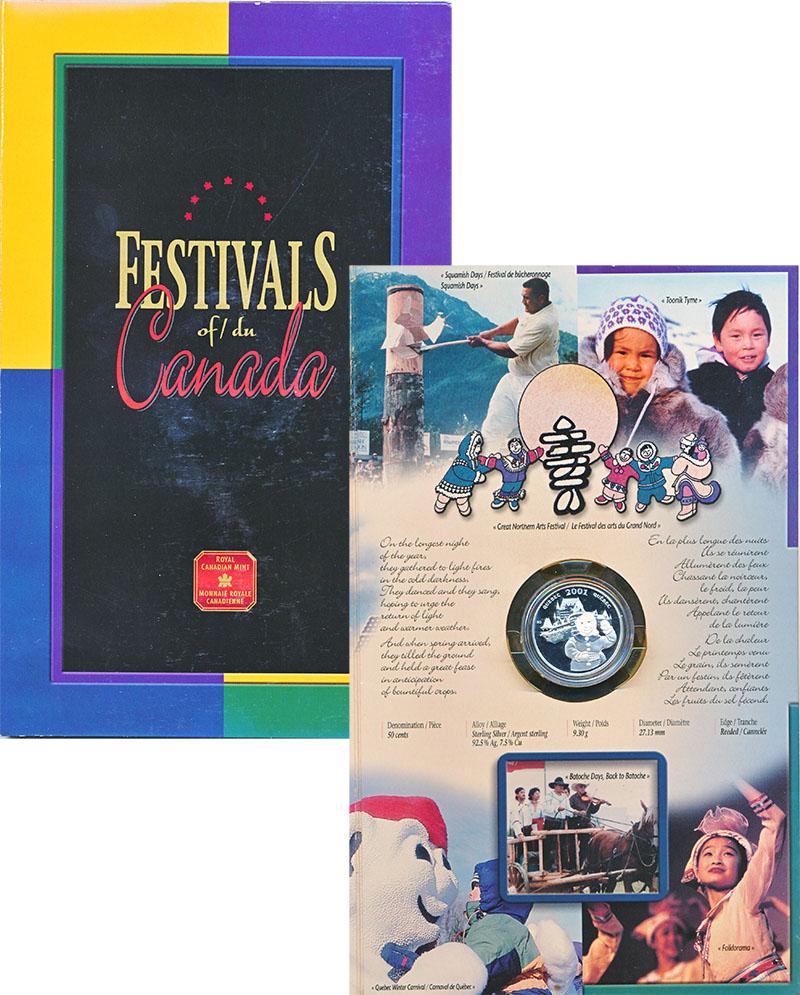 Изображение Подарочные монеты Северная Америка Канада 50 центов 2001 Серебро Proof