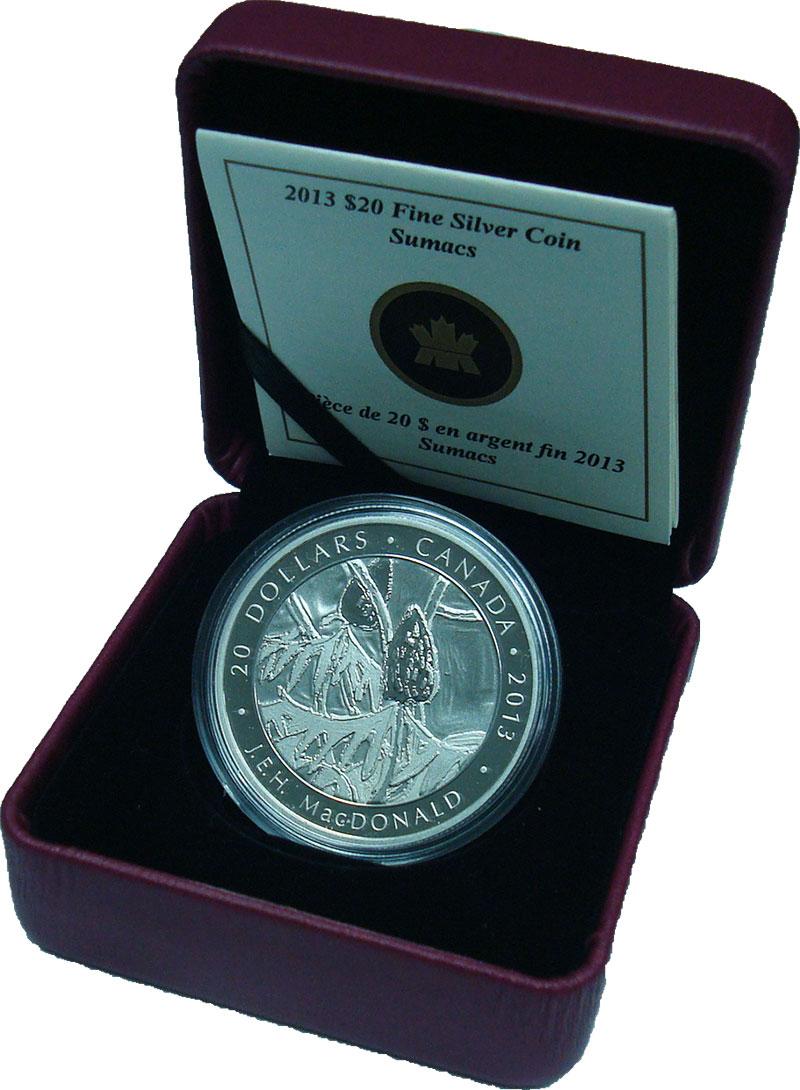 Изображение Подарочные монеты Северная Америка Канада 20 долларов 2013 Серебро Proof