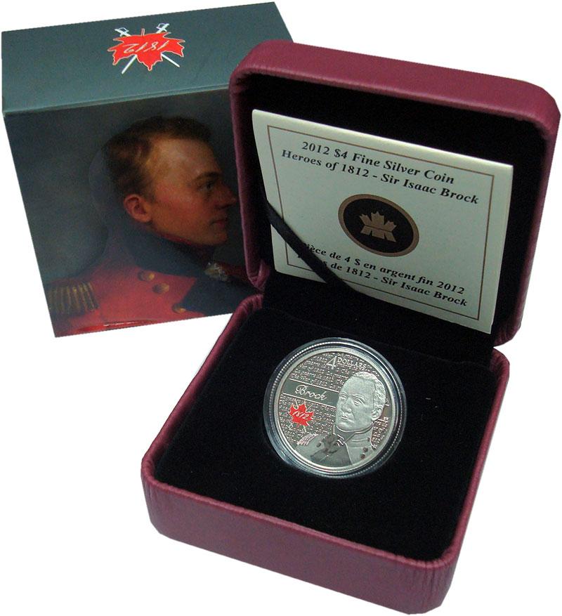 Изображение Подарочные монеты Канада 4 доллара 2012 Серебро Proof