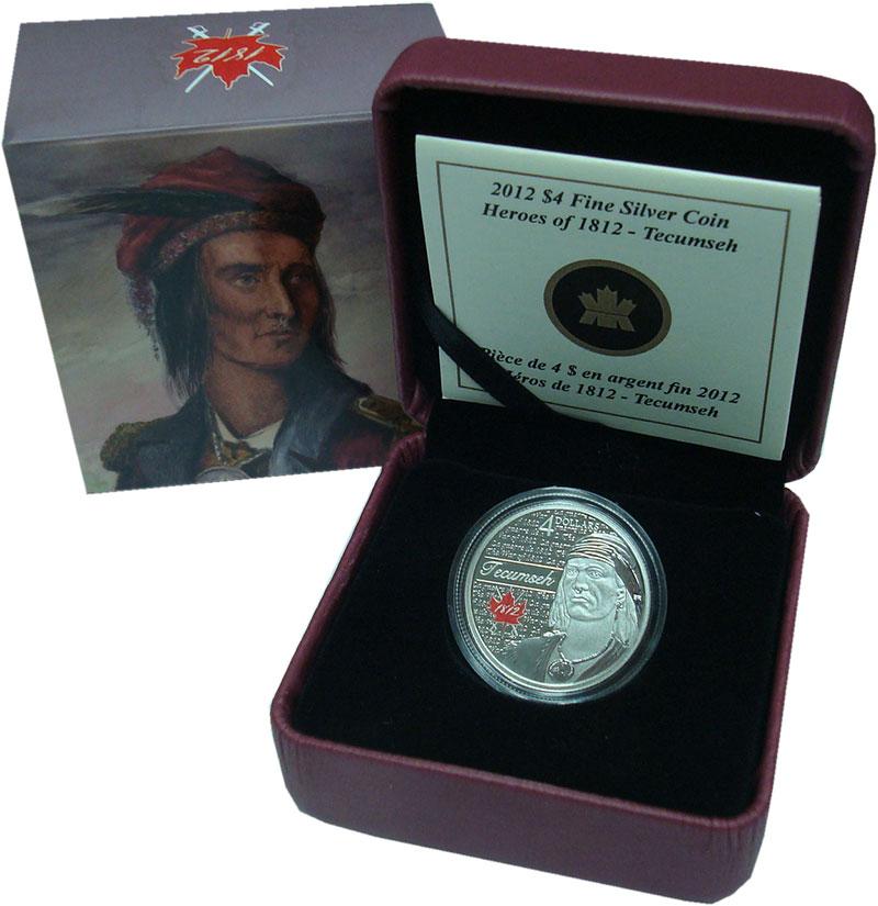 Изображение Подарочные монеты Северная Америка Канада 4 доллара 2012 Серебро Proof