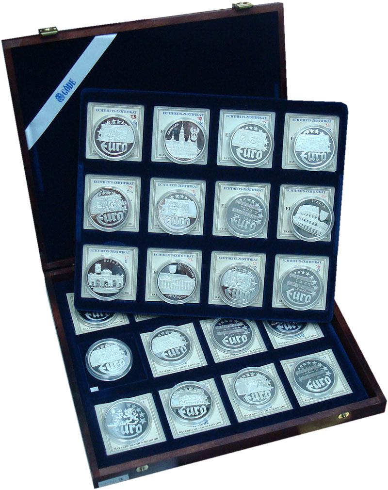 Изображение Подарочные монеты Европа Германия Первые Евро-монеты 0 Серебро Proof