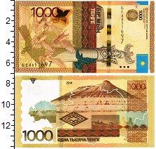 Изображение Банкноты Казахстан 1000 тенге 2014  UNC Монумиент Казак Ели