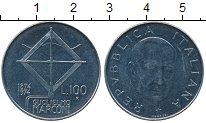 Изображение Дешевые монеты Италия 100 лир 1974 нержавеющая сталь XF