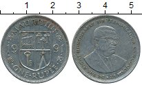 Изображение Дешевые монеты Маврикий 1 рупия 1991 Медно-никель XF-
