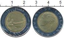 Изображение Дешевые монеты Италия 500 лир 1984 Биметалл UNC-