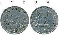 Изображение Дешевые монеты Франция 100 франков 1955 Медно-никель XF