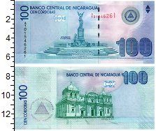 Изображение Банкноты Никарагуа 100 кордобас 2007  UNC