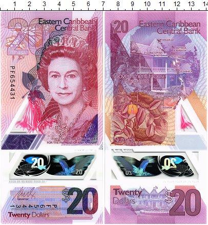 Изображение Банкноты Карибы 20 долларов 2019 Пластик UNC