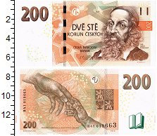 Изображение Банкноты Чехия 200 крон 2018  UNC