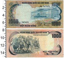 Изображение Банкноты Вьетнам 1000 донг 1971  XF