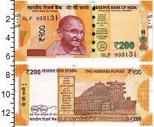 Изображение Банкноты Индия 200 рупий 2018  UNC Махатма Ганди
