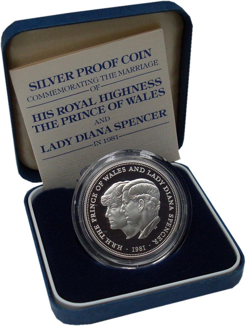 Изображение Подарочные монеты Европа Великобритания 25 пенсов 1981 Серебро Proof