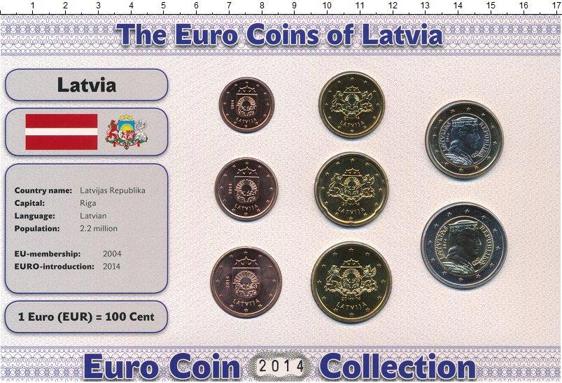 Изображение Подарочные монеты Европа Латвия Латвия 2014 2014  UNC