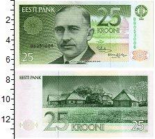 Изображение Банкноты Эстония 25 крон 1992  UNC