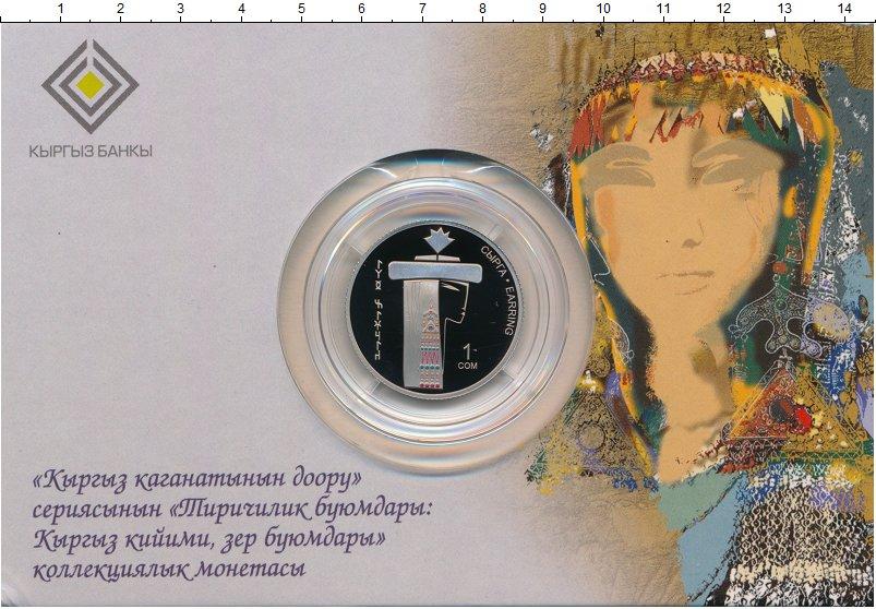 Изображение Мелочь СНГ Киргизия 1 сом 2019 Медно-никель Prooflike