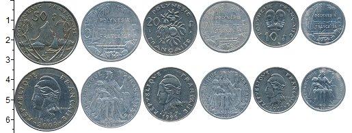 Изображение Наборы монет Франция Полинезия Набор монет 0  VF+