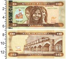 Изображение Банкноты Эритрея 10 накфа 2012  UNC