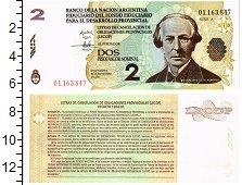 Изображение Банкноты Южная Америка Аргентина 2 песо 2006  UNC