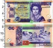 Изображение Банкноты Белиз 2 доллара 2017  UNC