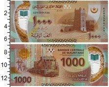 Изображение Банкноты Мавритания 1000 угий 2017 Пластик UNC