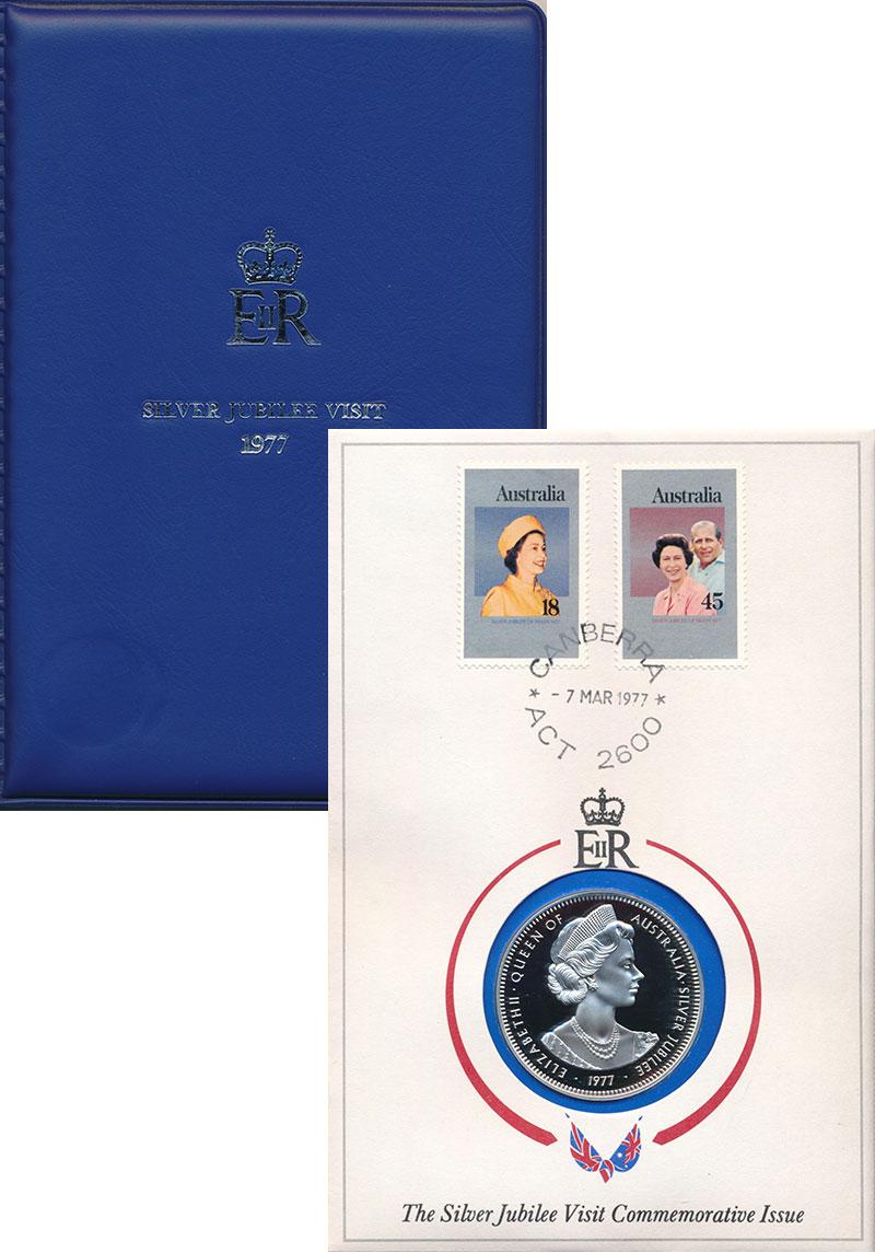 Изображение Подарочные монеты Австралия и Океания Австралия Королевский визит в Австралию. Серебряный юбилей. 1977 Серебро Proof