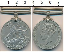 Изображение Монеты Великобритания Медаль 0 Медно-никель XF Георг VI, За Вторую