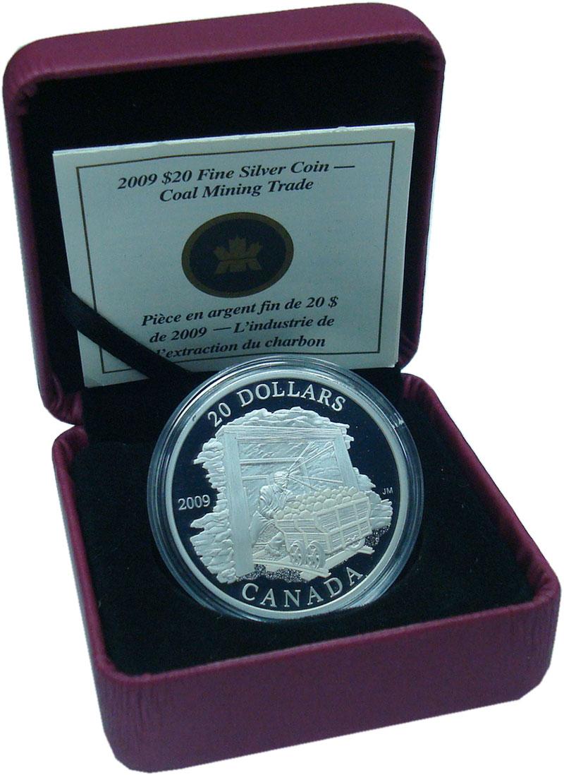 Изображение Подарочные монеты Канада 20 долларов 2009 Серебро Proof
