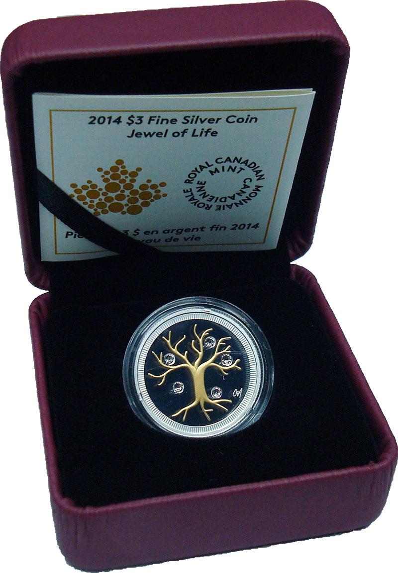 Изображение Подарочные монеты Канада 3 доллара 2014 Серебро Proof