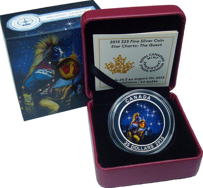 Изображение Подарочные монеты Канада 25 долларов 2015 Серебро Proof